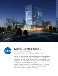 MaRS Centre Phase 2 Fact Sheet - MaRS Discovery District