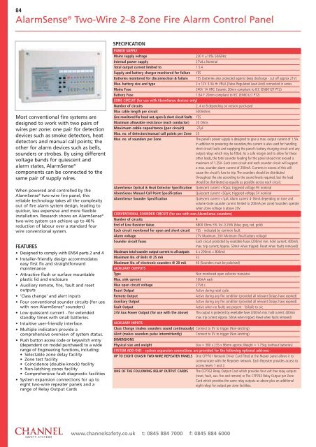 Alarmsensea Conventional Two Wire Fire Alarm Product Guide
