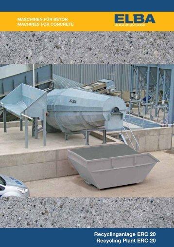 Recyclinganlage ERC 20 Recycling Plant ERC 20 - ELBA-WERK ...