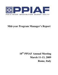 Mid-year Program Manager's Report 10 PPIAF Annual Meeting ...