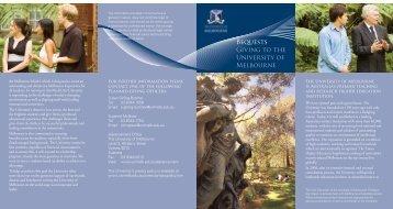05045 Bequests DL - University of Melbourne