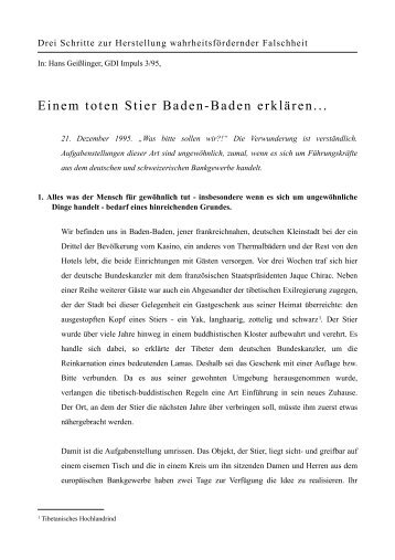 Drei Schritte zur Herstellung ... - story dealer berlin