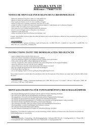 NOTICE DE MONTAGE Silencieux AP3 Réf.7700H7711TU - CRD