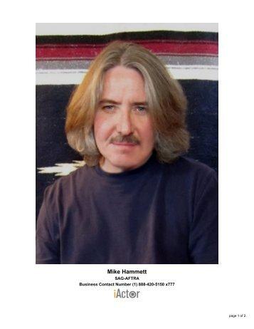 Mike Hammett - sag-aftra