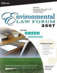 Pennsylvania Bar Institute's Environmental Law Forum - Reed Smith