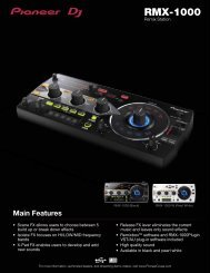 download the rmx-1000 product sheet - Pioneer DJ