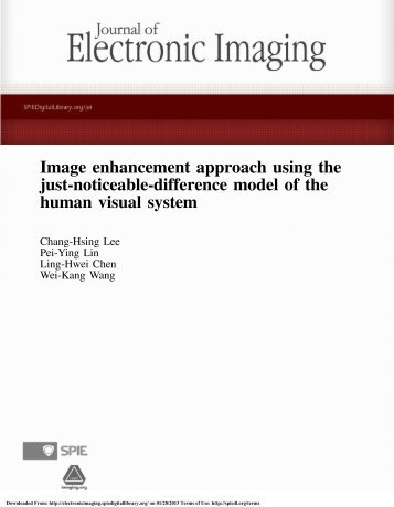 Image enhancement approach using the just-noticeable-difference ...