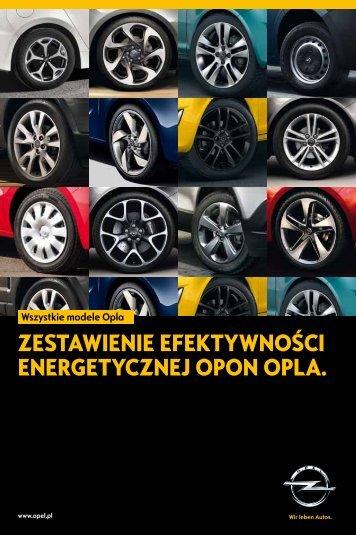 Efektywność energetyczna opon - Opel Polska