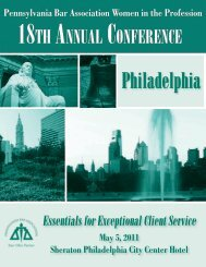 Meeting Brochure - Pennsylvania Bar Association