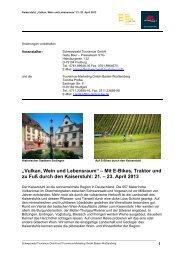 Pressereise Kaiserstuhl April 2013 - Movelo