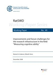 Measuring cognitive ability - RatSWD