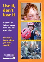Cycle helmet leaflet - Oxfordshire County Council