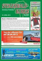 Ausgabe 1041 - Steigerwald-Kurier