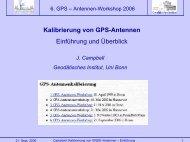Kalibrierung von GPS-Antennen Einführung und Überblick
