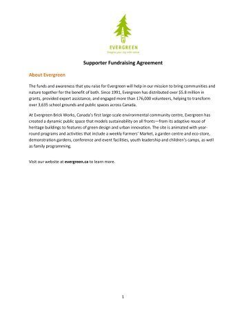 License agreement for the use of the evergreen supporter fundraising agreement pdf evergreen platinumwayz