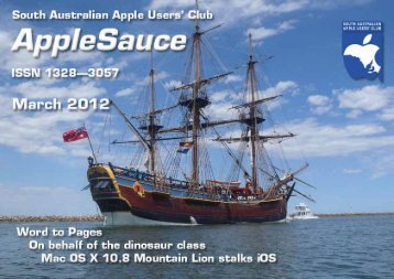 Download this issue - South Australian Apple Users' Club