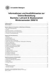 Informationen und Ausfüllhinweise zur Online-Bewerbung Bachelor ...