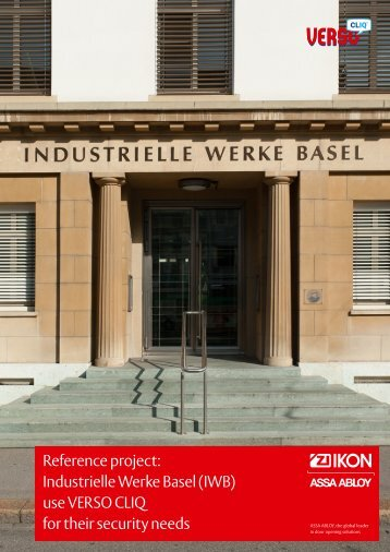 pdf object reference - IWB Basel - Assa Abloy