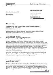 Dürer-Vorträge Vortragsreihe zum Jubiläum des ... - Kubiss.de