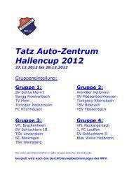 Tatz Auto-Zentrum Hallencup 2012 - SV Schluchtern