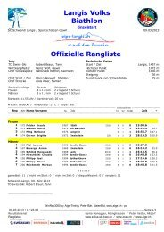 Langis Volks Biathlon Offizielle Rangliste - ALGE-TIMING Schweiz