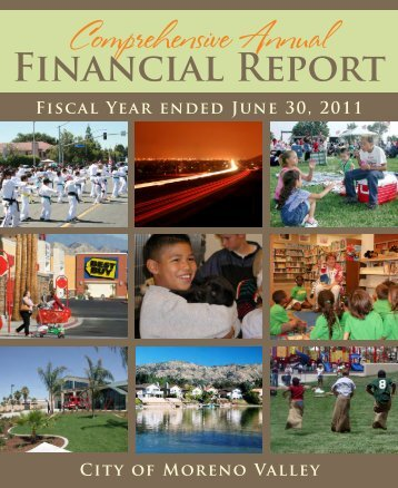 2011 Comprehensive Annual Financial Report - City of Moreno Valley
