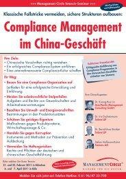 Compliance-Management im China-Geschäft - Asia-Pacific ...