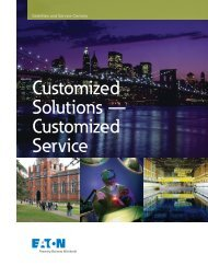 Customized Solutions — Customized Service - Eaton