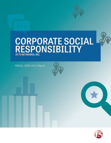 CORPORATE SOCIAL RESPONSIBILITY - F5 Networks