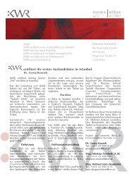 Newsletter nr 1 01/2007 - KWR