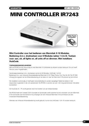MINI CONTROLLER IR7243 - De Beveiligingswinkel