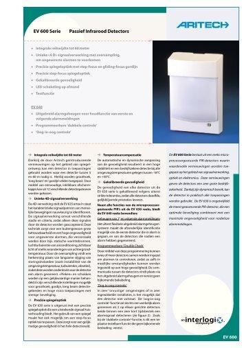 EV 600 Serie Passief Infrarood Detectors - De Beveiligingswinkel