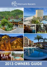 OWNERS GUIDE - Westgate Resorts