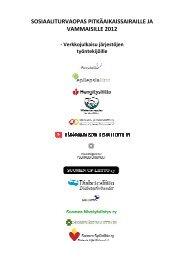 Sosiaaliturvaopas pitkäaikaissairaille ja vammaisille 2012 - Kokkola