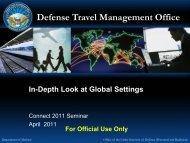 Connect 2011 Seminar - In-Depth Look at Global Settings - DTMO