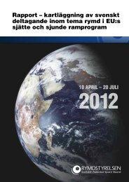 Rapport – kartläggning av svenskt deltagande inom ... - Rymdstyrelsen