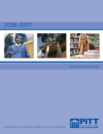 Annual Report - Pitt Community College
