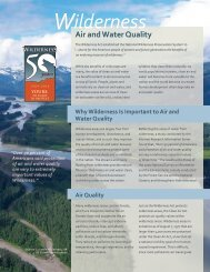 Wilderness and Air and Water Quality - Wilderness.net