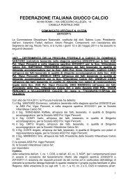Leggi il comunicato in pdf - Federazione Italiana Giuoco Calcio