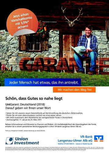 Schön, dass Gutes so nahe liegt - VR-Bank Langenau-Ulmer Alb eG