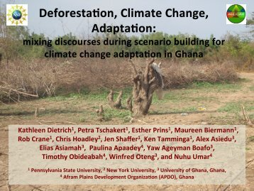 Deforestation, Climate Change, Adaptation