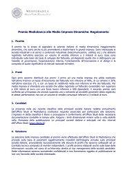 Regolamento - Mediobanca Ricerche e Studi S.p.A.