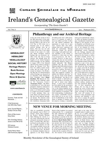 1 - Genealogical Society of Ireland