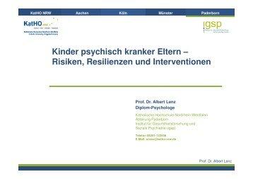 Fachvortrag Prof. Dr. Albert Lenz - PTK Bayern