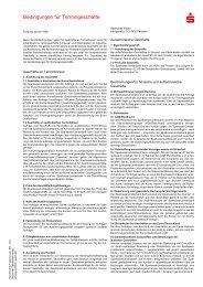 Bedingungen für Termingeschäfte - Sparkasse Allgäu