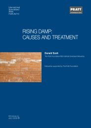 rising damp: causes and treatment - International Specialised Skills ...