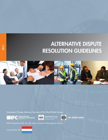 Alternative Dispute Resolution Guidelines - Investment Climate