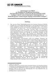 Anmerkungen zur Mitteilung der Kommission zur ... - UNHCR