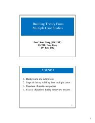 Building Theory From Multiple Case Studies - iacmr