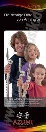 Die richtige Flöte von Anfang an - Reisser Musik